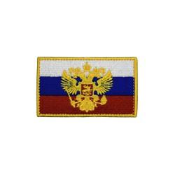 """Патч """"Флаг России"""", с гербом, 9.2 x 5.5 см"""