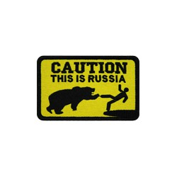 """Патч """"Caution. This is Russia"""", 9.3 x 5.9 см"""