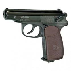 Пневматический пистолет Макарова МР-654К-20 (коричневая рукоятка)