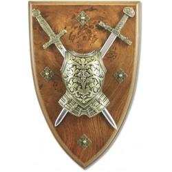 Панно мини-меч Эскалибур, мини-меч Карла Великого