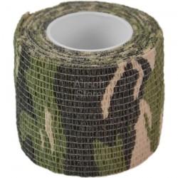 Самоклеящаяся камуфляжная лента, 5см х 4,5м (Woodland)