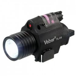 Подствольный фонарь Veber FL-04 с лазером
