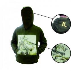 Свитер (толстовка с капюшоном и принтом) Remington (зеленый)