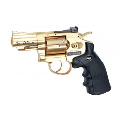 "Dan Wesson револьвер 2,5"" пневматический металл, пластик, кал. 4,5 мм, золотистый"