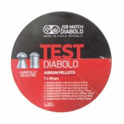 Пули пневматические JSB Test 4,5 мм 0,475-0,87 грамма (350 шт.)