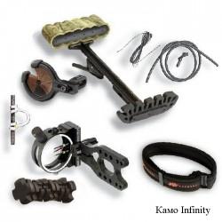 Комплект аксессуаров для лука Aries, цвет камуфлированный infinity: кивер, стабилизатор, прицел, полочка