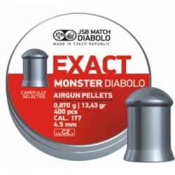 Пули пневматические JSB Exact Monster Diabolo 4,5 мм 0,87 грамма (400 шт.)