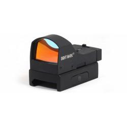 Коллиматорный прицел Sightmark Mini панорамный, 2 ур. яркости подсветки, крепление на Weaver / Picatinny