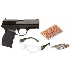 Пневматический пистолет Crosman PRO77 Kit (пули + очки + 2 баллончика)