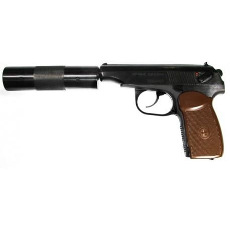 Пневматический пистолет Макарова МР-654К-22 с фальшглушителем