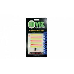 HiViz мушка FlashPoint для гладк.ружей, набор 8 волокон (красн.+желт.) + планка и винты