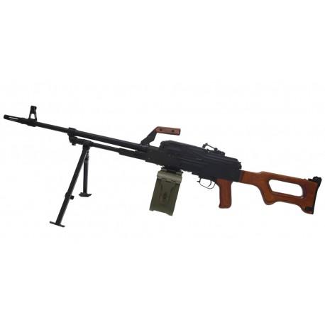 Пулемет Калашникова (ПКМ) страйкбольный A&K (металл, дерево)
