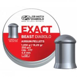 Пули пневматические JSB Exact beast diabolo 4,5мм 1,05 г (250 шт.)