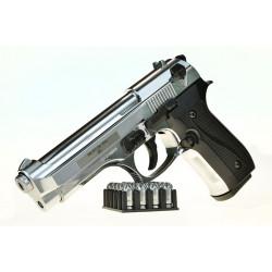 Охолощенный пистолет B92 CO хром калибр 10ТК