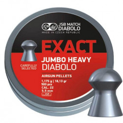 Пули пневматические JSB EXACT Jumbo HEAVY 5,52 мм 1,175 грамма (500 шт.)
