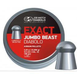 Пули пневматические JSB Exact Jumbo Beast 5,52 мм 2,2 г, (150 шт.)