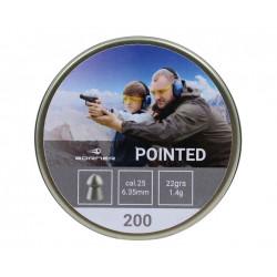 "Пули пневматические Borner ""Pointed"" к.6,35 (200 шт.) 1,04г"