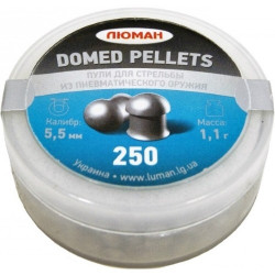 "Пули пневм. Люман ""Domed pellets"", 5,5 мм 1,1 грамма (250 шт.)"