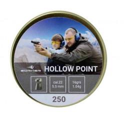 Пули пневматические Borner Hollow Point 5,5 мм 1,04 г (250 шт.)