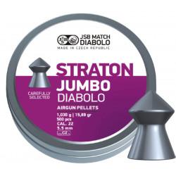 Пули пневматические JSB Straton Jumbo Diabolo 5,5 мм 1,030 грамма (500 шт.) (острые)