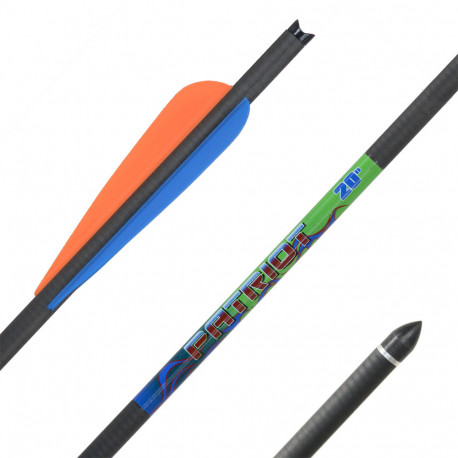 Стрела для арбалета Bowmaster - Patriot 20'', карбон, 11/32, оперение 3, ¾'' Streamline