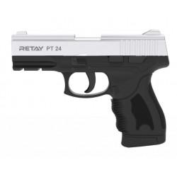 Охолощенный пистолет Retay PT24 (Taurus) 9mm P.A.K, никель