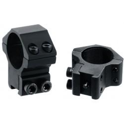 Кольца Leapers Accushot 25,4 мм для установки на оружие с призмой 10-12 мм, STM, средние (100 шт./уп.)