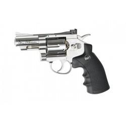 Dan Wesson револьвер 2,5' пневматический, хромированный, металл, пластик