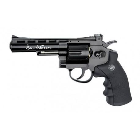 "Dan Wesson револьвер 4"" пневматический металл, пластик, кал. 4,5 мм, чёрный"