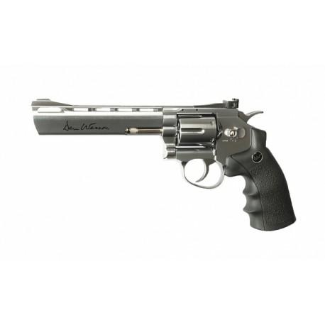 Dan Wesson револьвер 6' пневматический цельнометаллический никель, пластик