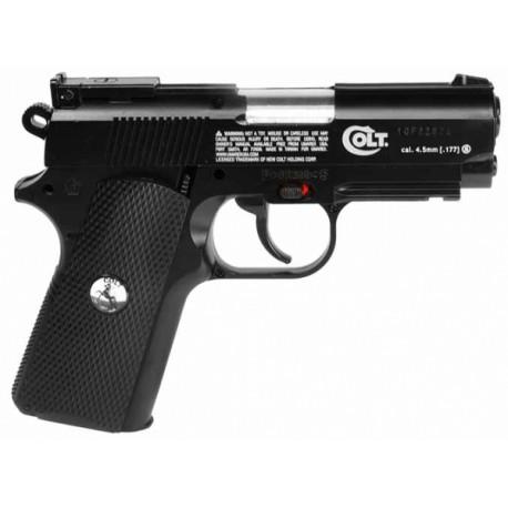 Пистолет пневм. Colt Defender (чёрн. с чёрн. пласт. накладками)