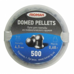 "Пуля пневм. ""Domed pellets"", 0,68 г. 4,5 мм. (500 шт.)"