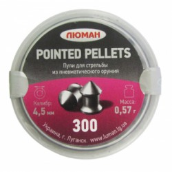 "Пуля пневм. ""Pointed pellets"", 0,57 г. 4,5 мм. (300 шт.)"