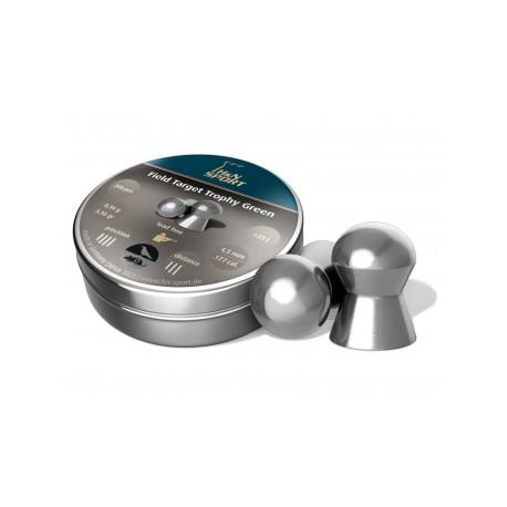 Пули пневматические H&N Field Target Trophy Green 4,5 мм 0,36 грамма (300 шт.)