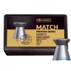 Пули пневматические JSB Match Premium Middle 0,52 грамма