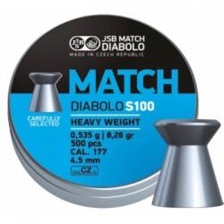 Пули пневматические Blue Match Diabolo S100 4,5 мм 0,535 грамма (500 шт.)