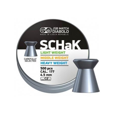 Пули пневматические Diabolo SCHaK 4,5 мм 0,52 гр (500 шт.)
