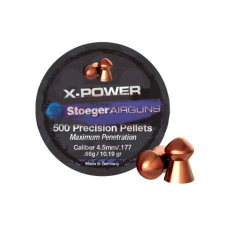 Пули пневматические Н&N Stoeger X-Power 4,5 мм 0.65 г/10.19 гр (500 шт.)