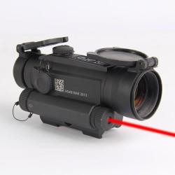 коллиматор Holosun INFINITI на Weaver/Picatinny + лазер 650 нм., быстросъемн., точка 2MOA, 12 подсв. (+NV)