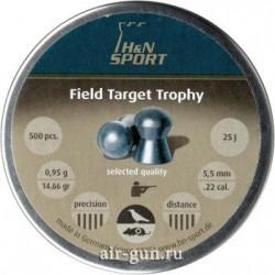 Пули пневматические Н&N Field Target Trophy 5,5 мм 0,95 грамма (500 шт.) headsize 5,53 мм
