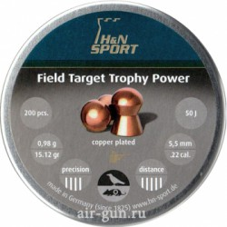 Пули пневматические H&N Field Target Trophy Power 5,5 мм 0,98 грамма (200 шт.) headsize 5,50 мм