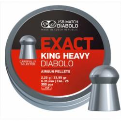 Пули пневматические JSB Diabolo Exact King Heavy 6.35 мм 2.2 грамма (300 шт.)