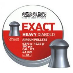 Пули пневматические JSB EXACT Heavy Diabolo 4,5 мм 0,67 грамма (500 шт.)