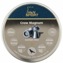 Пули пневматические H&N Crow Magnum 6,35 мм 1.70 грамма (200 шт.) headsize 6,35 мм