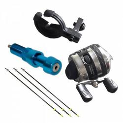 Набор для рыбной ловли Topoint (катушка, линь, полочка, крепеж, 3 гарпуна)